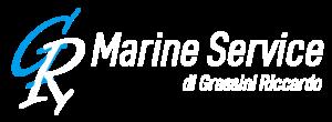 Logo GR Marine Service Bianco